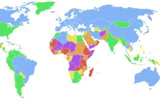Termékenységi arányszám országonként