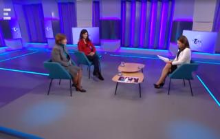 Görgey Zsuzsanna és Olaj Anett az Echo TV-ben